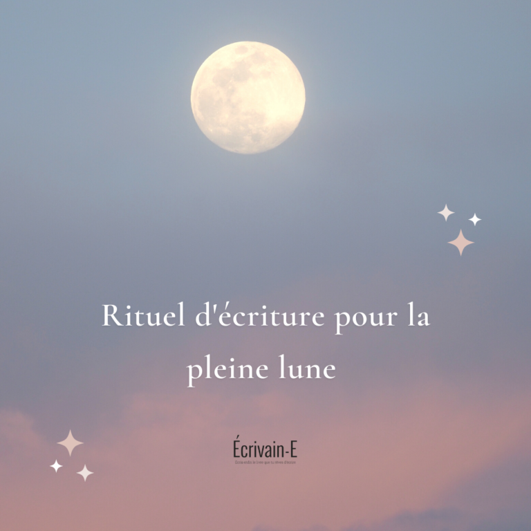 Pleine lune: rituel d'écriture